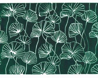 Green Poppy Print