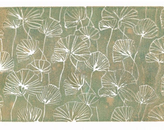 Spring Green Poppy Print