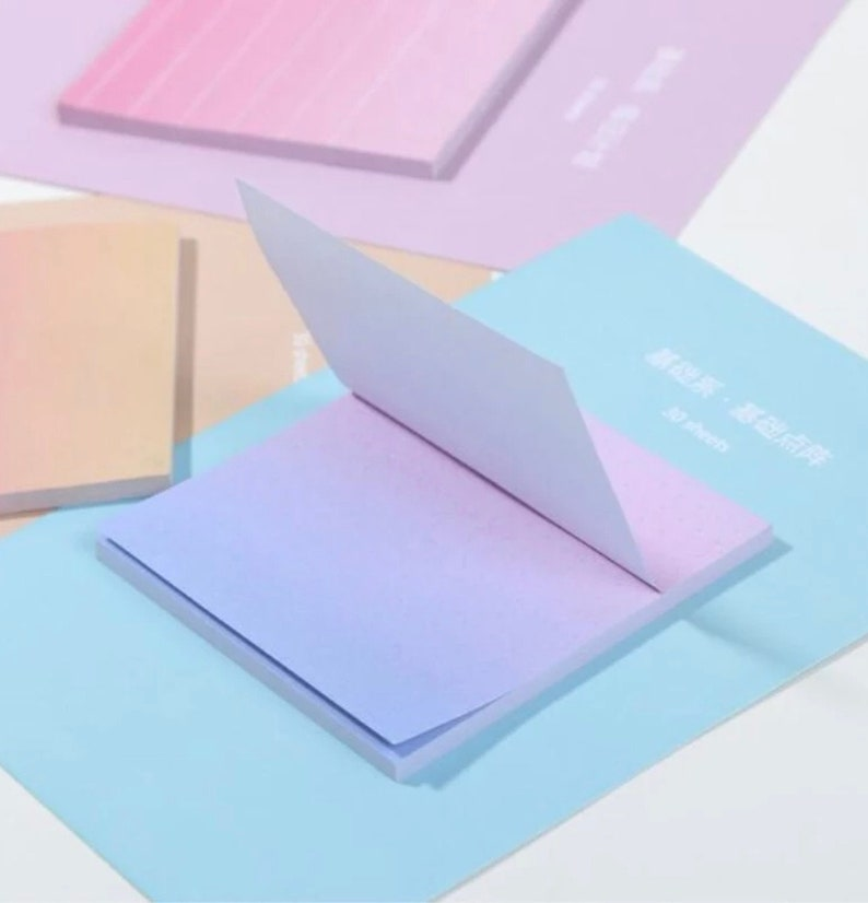 OMBRE RAINBOW Memo Pads  Planner Decorations Sticky Notes image 0