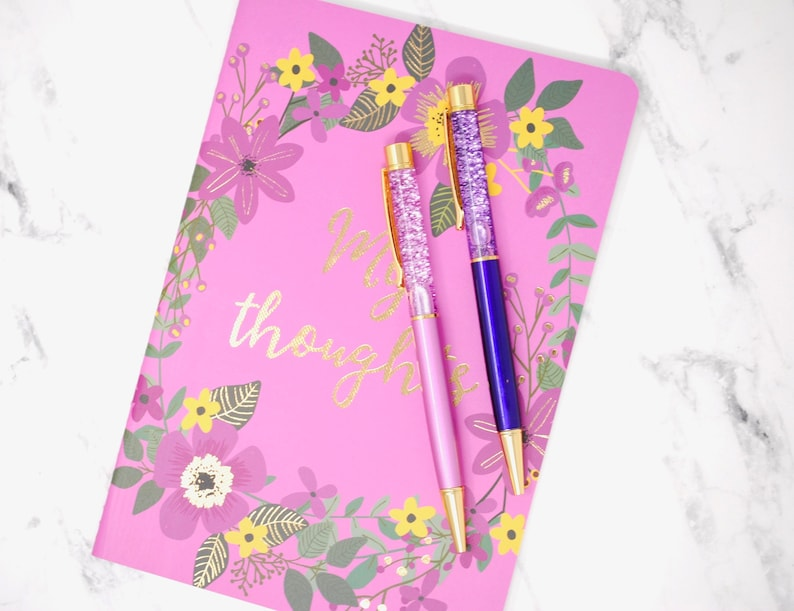 Pens PURPLE PASSION pen set of 2 Floating Glitter or glitter image 0