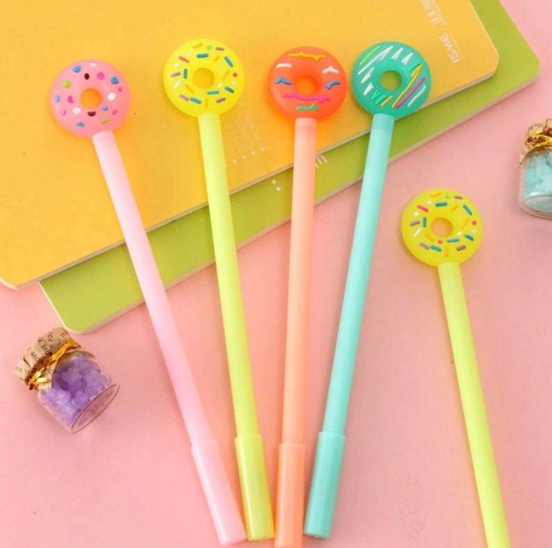 DONUT PEN  Kawaii Pen Kids Korean Cute Gel Pens Stationery image 0