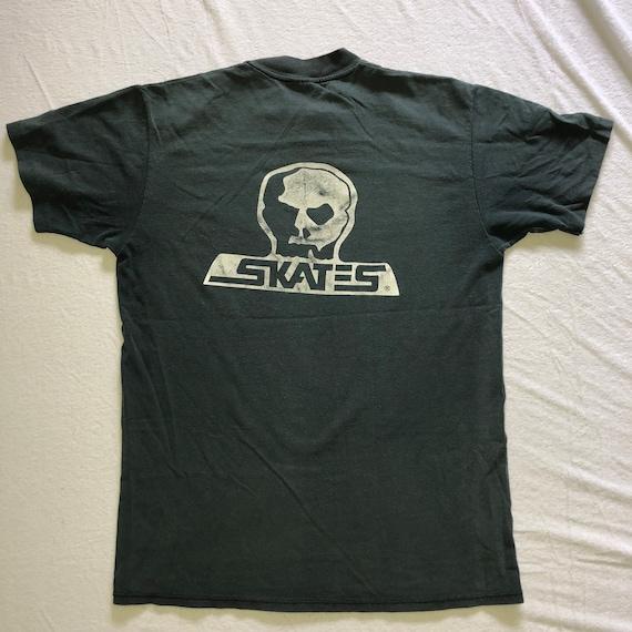 Vintage 80s SKULL SKATES t shirt