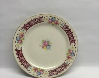 Brittany 8-inch Salad Plate Vintage 1940 Homer Laughlin