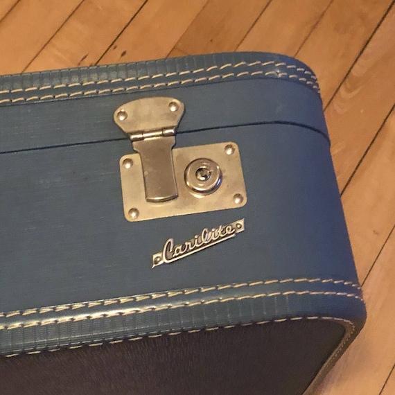 Suitcase Carilite  Blue Excellent Condition