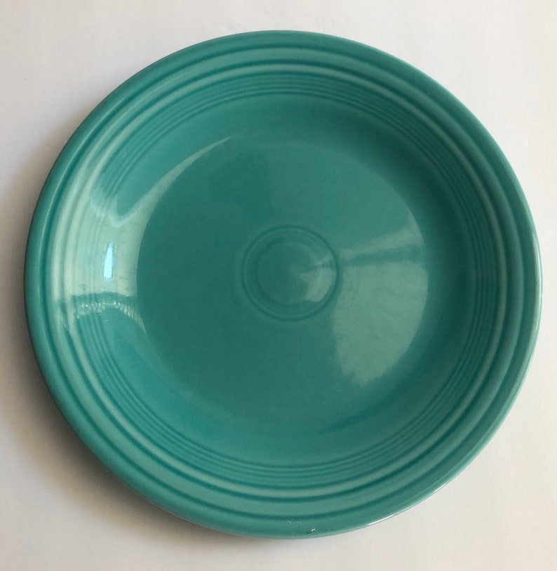 Fiesta ware Dinner Plate Homer Laughlin Dinnerware 10 1/2 Inch Turquoise  Blue