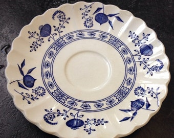 Blue Onion JG Meakin Saucer