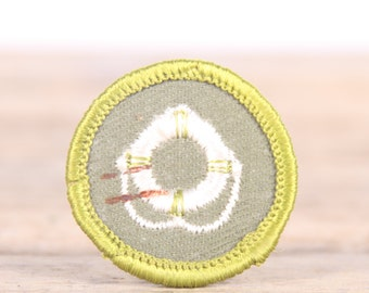 Vintage 1960s Boy Scout Merit Badge Patch / Life Saver Swiming BSA Patch / Scouts Patch / Scout Badge / Boy Scouts of America