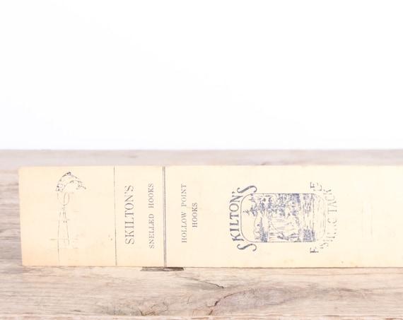 Vintage Skilton's Snelled Hooks Fishing Tackle / Vintage Fishing Lure / Antique Metal Fishing Lures / Old Fishing Lure / Fishing Gift