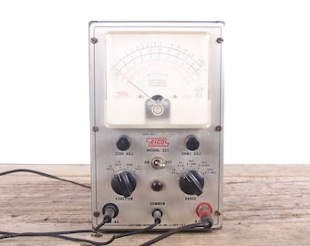 Vintage EICO Model 221 Electronic Voltmeter Ohmmeter / Electronics Decor / Industrial Set Prop / Steampunk Decoration / Vintage Electronics