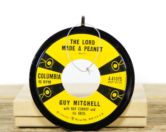 Vintage Vinyl Record Christmas Ornament / Guy Mitchell Ray Conniff from 1957 / Unique Vinyl Record Gift / Vintage Holiday Decor