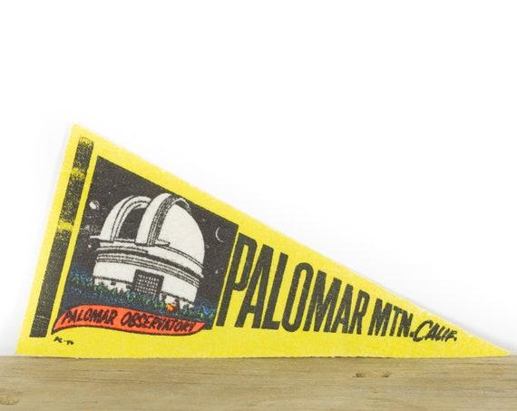 Vintage Palomar Mountain California Mini Felt Pennant / Observatory Vintage Felt Pennant / Pennant Banner / Pennant Flag Wall Pennant Decor