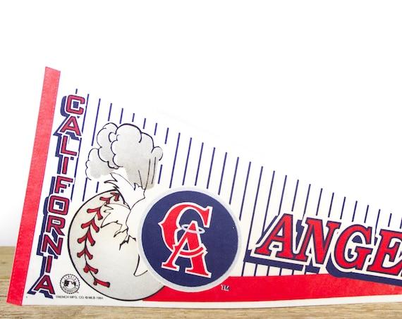 Vintage California Angels Pennant / Angels Collectible / Large MLB Baseball Souvenir Felt Pennant