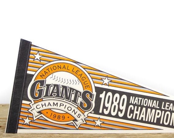 Vintage San Francisco Giants Pennant - National League Champions / Giants Collectible / Medium Size MLB Baseball Souvenir Felt Pennant