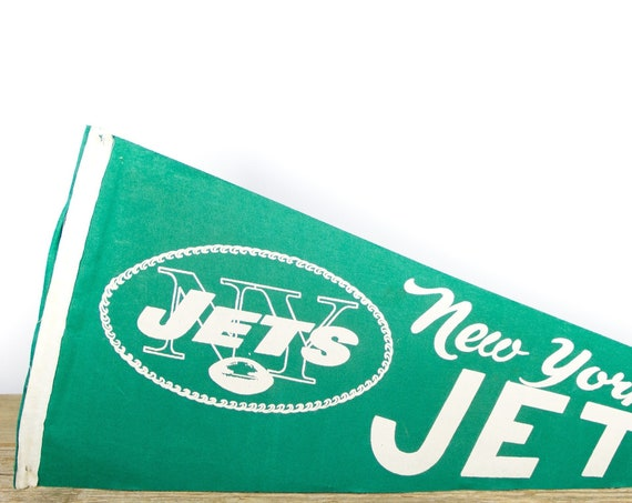 Vintage New York Jets Pennant / NY Jets Collectible / Large NFL - National Football League Souvenir Felt Pennant