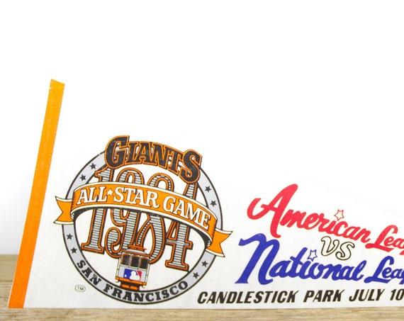 Vintage San Francisco Giants Pennant / Giants Collectible / Large MLB Baseball Souvenir Felt Pennant