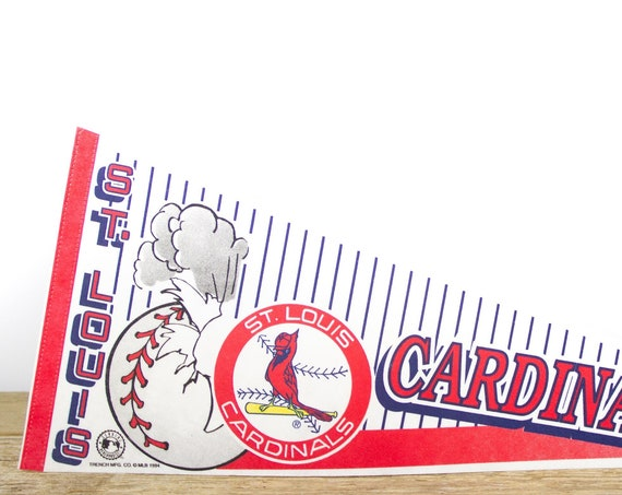 Vintage St. Louis Cardinals Pennant / Cardinals Collectible / Large MLB Baseball Souvenir Felt Pennant