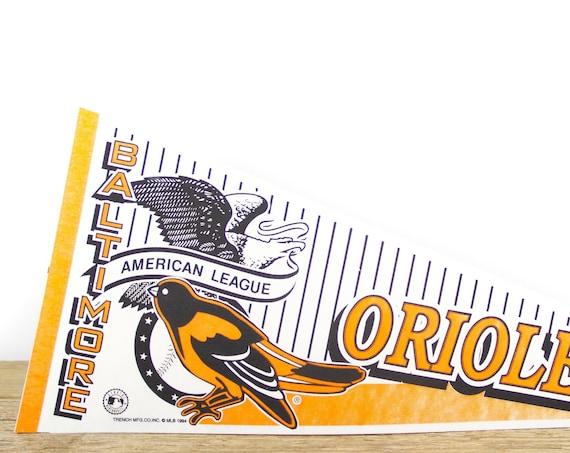 Vintage Baltimore Orioles Pennant / Orioles Collectible / Large MLB Baseball Souvenir Felt Pennant
