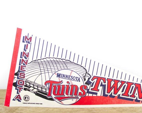 Vintage Minnesota Twins Pennant / Twins Collectible / Large MLB Baseball Souvenir Felt Pennant