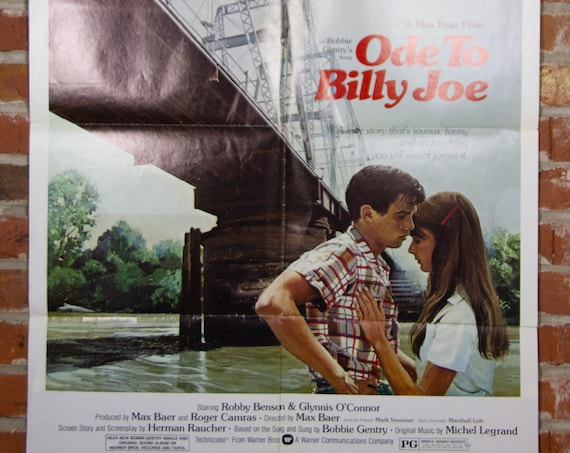 """Ode to Billy Joe from 1976 Movie Poster - Original 27"""" X 41"""" (1) One Sheet Folded Movie Poster - Drama, Romance"""