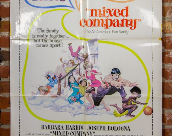 """Mixed Company Movie Poster from 1974 - Original 27"""" X 41"""" (1) One Sheet Folded Movie Poster - Comedy, Drama, Family"""