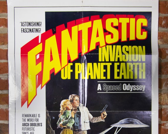 """Fantastic Invasion of Planet Earth / The Bubble Movie Poster from 1976 - Original 27"""" X 41"""" (1) One Sheet Theater Folded Poster - Sci-Fi"""