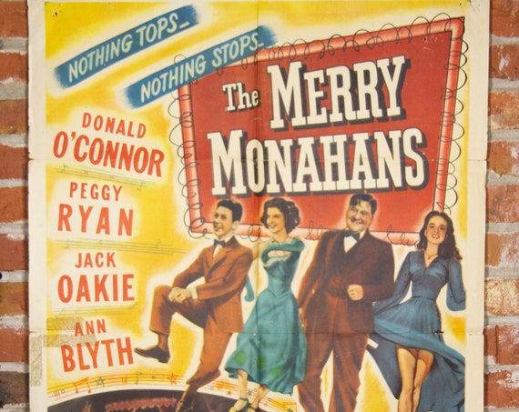 """1944 The Merry Monahans Movie Poster - Original 1944 27"""" X 41"""" (1) One Sheet Folded Movie Poster - Comedy, Drama, Music, Musical"""