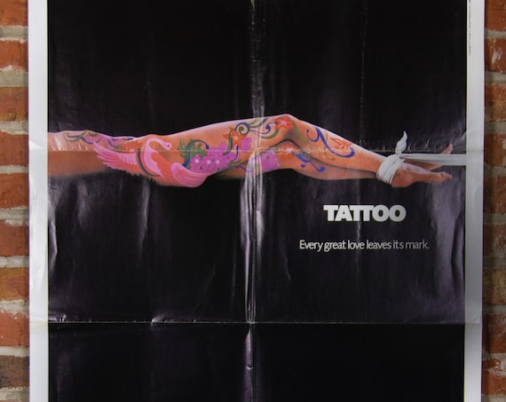 """Tattoo Movie Poster from 1981 - Original 27"""" X 41"""" (1) One Sheet Theater Folded Poster - Drama Horror Thriller Movie"""