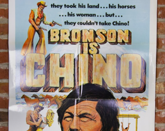 """Chino Movie Poster from 1973 starring Charles Bronson - Original 27"""" X 41"""" (1) Sheet Folded Poster - Action, Adventure, Drama, Cowboy"""