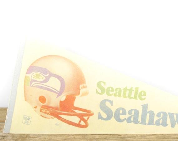Vintage Seattle Seahawks Pennant / Seahawks Collectible / Large NFL - National Football League Souvenir Felt Pennant