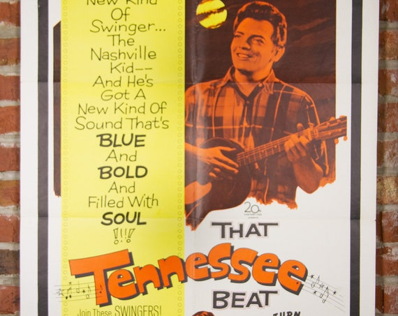 """That Tennessee Beat Movie Poster from 1968 - Original 27"""" X 41"""" (1) One Sheet Theater Folded Poster - Drama Musical Movie"""
