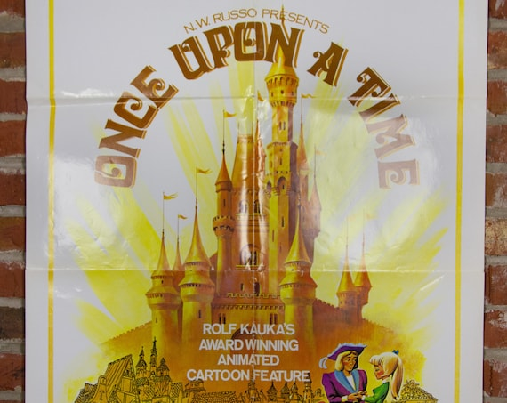 """Once Upon A Time from 1976 - Original 27"""" X 41"""" (1) One Sheet Folded Poster - Animated, Childrens, Kids"""