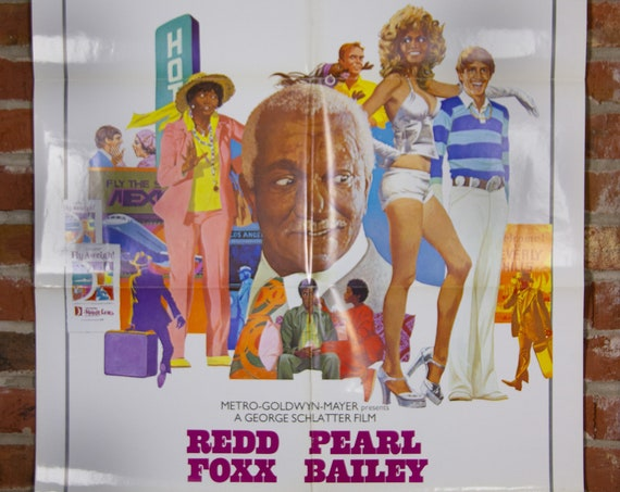 """Norman... Is That You? Movie Poster from 1976 starring Redd Foxx - Original 27"""" X 41"""" (1) One Sheet Theater Folded Poster - Comedy Poster"""