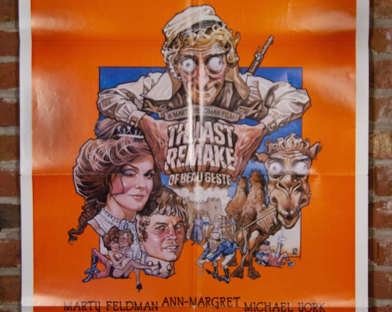 """The Last Remake of Beau Geste Movie Poster from 1977 starring Marty Feldman - Original 27"""" X 41"""" (1) Sheet Theater Folded Poster -Comedy War"""