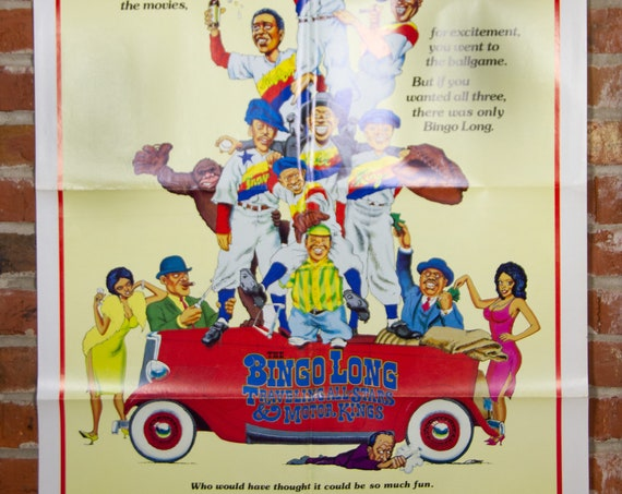 """The Bingo Long Movie Poster from 1976 - Original 27"""" X 41"""" (1) One Sheet Theater Folded Poster - Comedy Drama Romance Movie Poster"""
