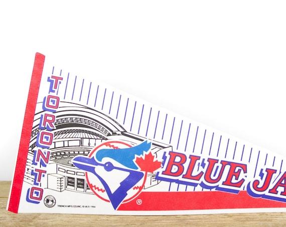 Vintage Totonto Blue Jays Pennant / Blue Jays Collectible / MLB Felt Pennant / Major League Baseball Souvenir Pennant / Wall Art