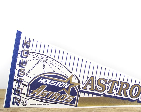 Vintage Houston Astros Pennant / Astros Collectible / Large MLB Baseball Souvenir Felt Pennant