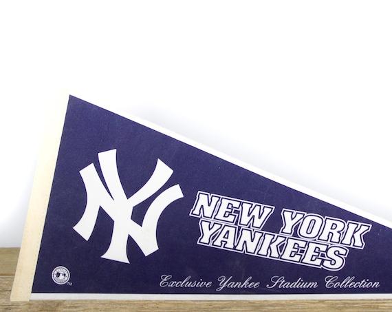 Vintage New York Yankees Stadium Collection Pennant / Yankees Collectible / Large MLB Baseball Souvenir Felt Pennant