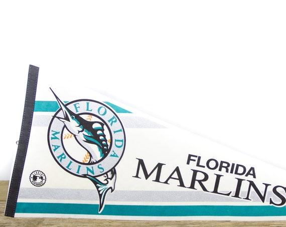 Vintage Florida Marlins Pennant / Marlins Collectible / Large MLB Baseball Souvenir Felt Pennant