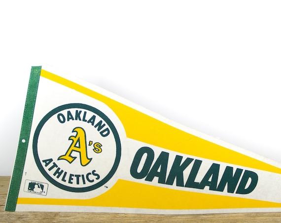 Vintage Oakland Athletics Pennant / Athletics Collectible / Large MLB Baseball Souvenir Felt Pennant
