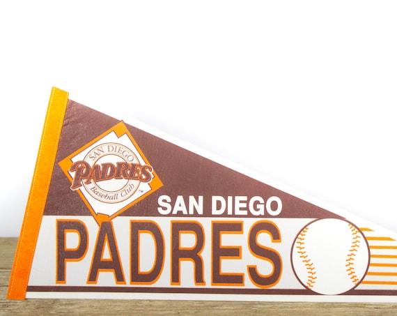 Vintage San Diego Padres Pennant / Padres Collectible / Large MLB Baseball Souvenir Felt Pennant