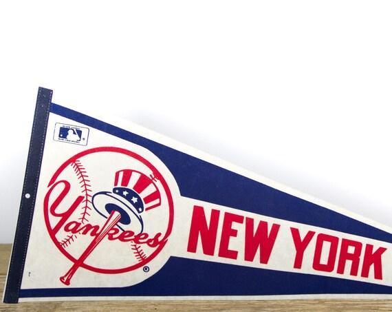 Vintage New York Yankees Pennant / Yankees Collectible / Large MLB Baseball Souvenir Felt Pennant
