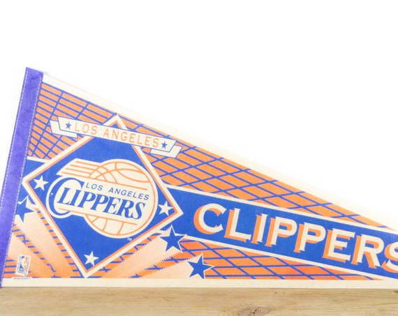 Vintage Los Angeles Clippers NBA Felt Pennant / Clippers Basketball Souvenir / National Basketball Association Pennant / Souvenir Pennant