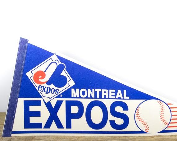Vintage Montreal Expos Pennant / Expos Collectible / Large MLB Baseball Souvenir Felt Pennant