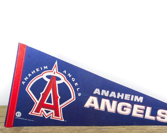 Vintage Anaheim Angels Pennant / Angels Collectible / Large MLB Baseball Souvenir Felt Pennant