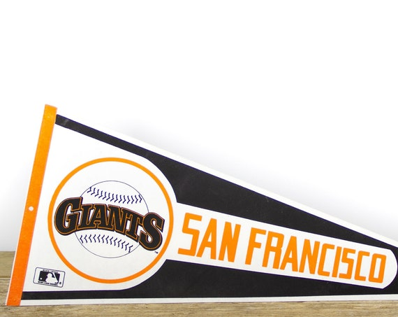 Vintage San Fransisco Giants Pennant / Giants Collectible / Large MLB Baseball Souvenir Felt Pennant