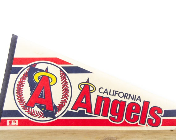 Vintage California Angels MLB Felt Pennant / California Souvenir / Major League Baseball Souvenir Pennant / Souvenir Pennant