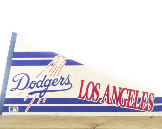 Vintage Dodgers Los Angles MLB Felt Pennant / California Souvenir / Major League Baseball Souvenir Pennant / Souvenir Pennant