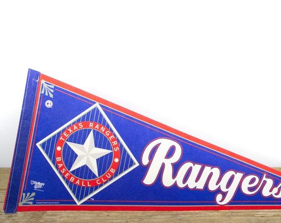 Vintage Texas Rangers Pennant / Rangers Collectible / Large MLB Baseball Souvenir Felt Pennant