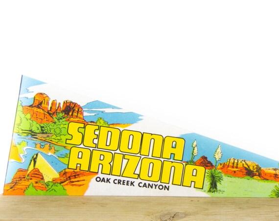 Vintage Sedona Arizona Felt Pennant / Oak Creek Canyon Pennant / Vintage Felt Pennant / Pennant Banner / Pennant Flag / Pennant Decor