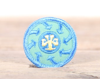 "Vintage Girl Scout Patch / 1970's-80's Scout Patch / Blue Old Stock Scout Patch / 1.5"" Girl Scouts Patch / Scout Badge"